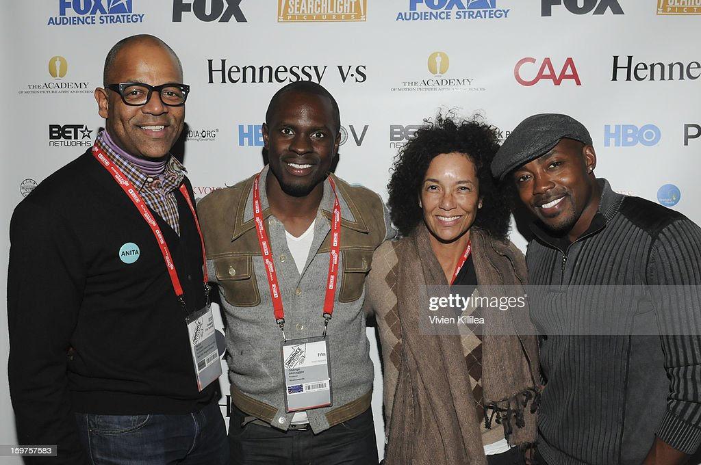 New York Events Director for the Academy of Motion Picture Arts and Sciences Patrick Harrison, actor Gbenga Akinnagbe and director of the Los Angeles Film Festival Stephanie Allain and producer Will Packer attend the Academy Conversation With Will Packer At Sundance Film Festival - 2013 Park City on January 19, 2013 in Park City, Utah.