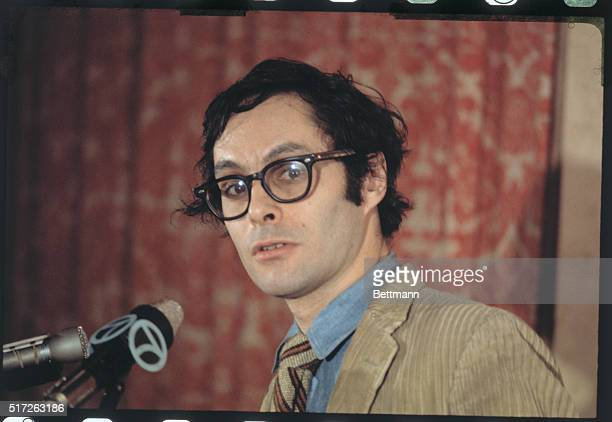 ExArmy captain Dr Howard Levy is shown during press conference at the Statler Hilton Hotel at which actress activist Jane Fonda said her antiwar...
