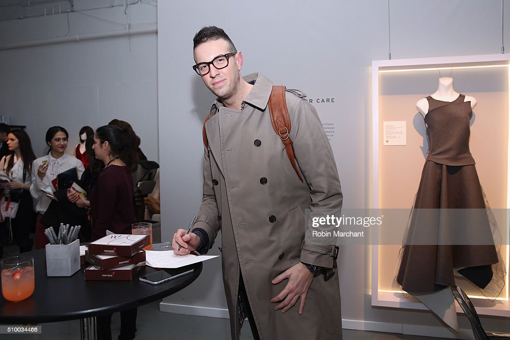 New York Fashion Week attendee poses at the Fall 2016 New York Fashion Week at the Gallery, Skylight at Clarkson Sq on February 13, 2016 in New York City.