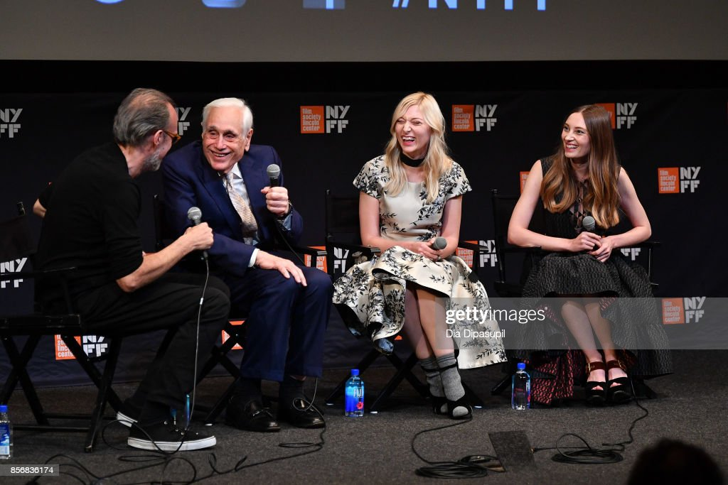 New York Film Festival director Kent Jones, Edward Jay Epstein, Ines Talakic, and Ena Talakic take part in a Q&A following a screening of 'Hall of Mirrors' during the 55th New York Film Festival at The Film Society of Lincoln Center, Walter Reade Theatre on October 2, 2017 in New York City.