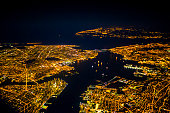 New York from the air at night