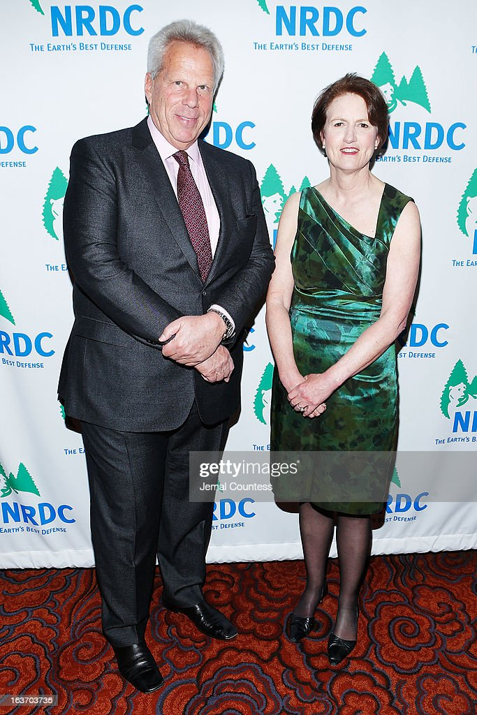 New York Giants Chairman and Exec VP Steve Tisch NRDC President Frances Beinecke attends the 2013 Natural Resources Defense Council Game Changer Awards at the Mandarin Oriental Hotel on March 14, 2013 in New York City.