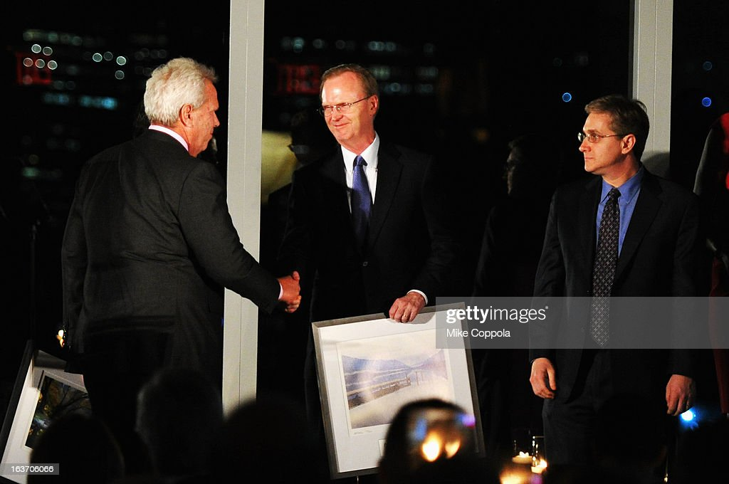 New York Giants chairman Steve Tisch and New York Giants President, CEO & co-owner John Mara attend the 2013 Natural Resources Defense Council Game Changer Awards at the Mandarin Oriental Hotel on March 14, 2013 in New York City.