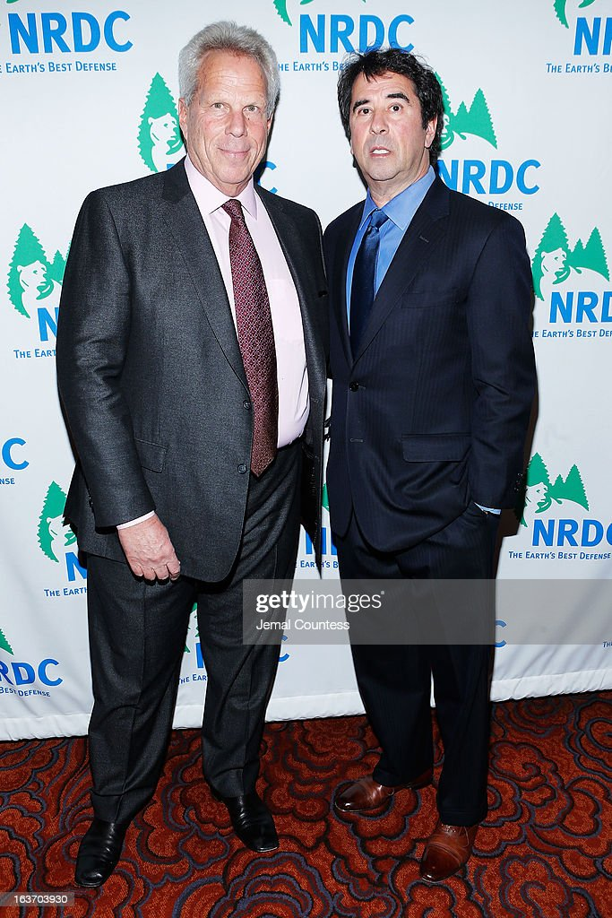 New York Giants chairman Steve Tisch NRDC senior scientist Allen Hershkowitz attend the 2013 Natural Resources Defense Council Game Changer Awards at the Mandarin Oriental Hotel on March 14, 2013 in New York City.