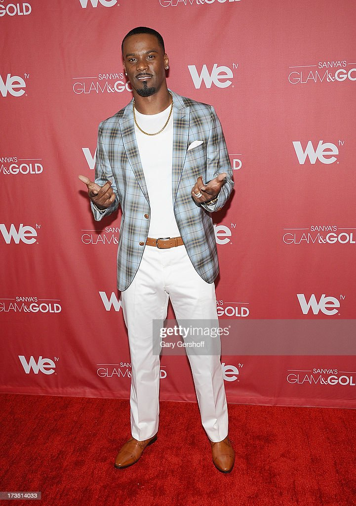 New York Giants cornerback Aaron Ross attends 'Sanya's Glam And Gold' Series Premiere at Gansevoort Hotel on July 15, 2013 in New York City.
