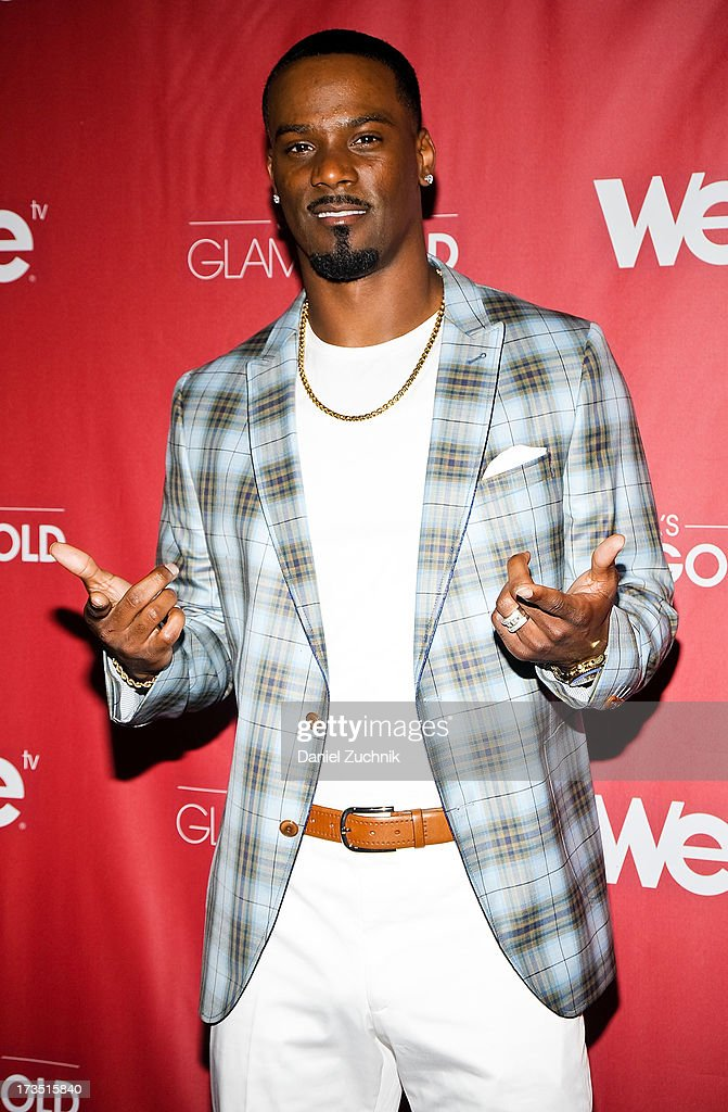 New York Giants cornerback <a gi-track='captionPersonalityLinkClicked' href=/galleries/search?phrase=Aaron+Ross+-+American+Football+Cornerback&family=editorial&specificpeople=2105852 ng-click='$event.stopPropagation()'>Aaron Ross</a> attends 'Sanya's Glam And Gold' Series Premiere at the Gansevoort Hotel on July 15, 2013 in New York City.
