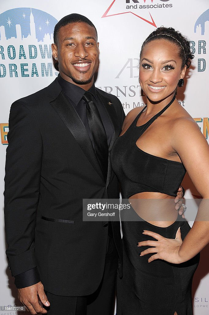 New York Giants cornerback Justin Tryon attends the 2012 Broadway Dreams Foundation 'Champagne And Caroling' Gala at Celsius on December 10 2012 in...