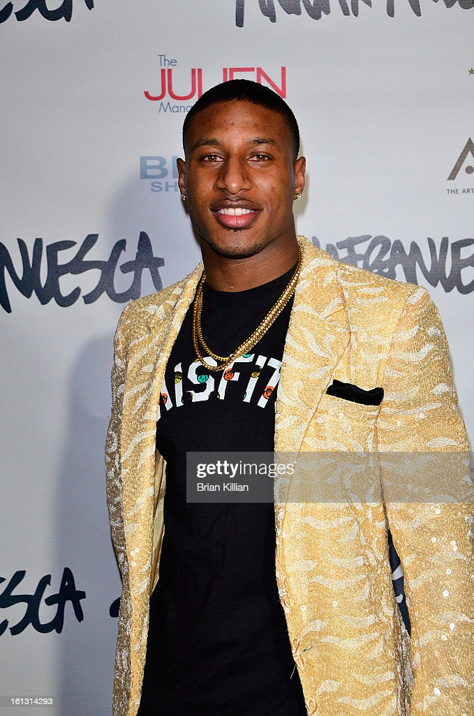 New York Giants cornerback Justin Tryon attends the Anna Francesca Presentation during Fall 2013 Mercedes-Benz Fashion Week at Tammany Hall on February 9, 2013 in New York City.