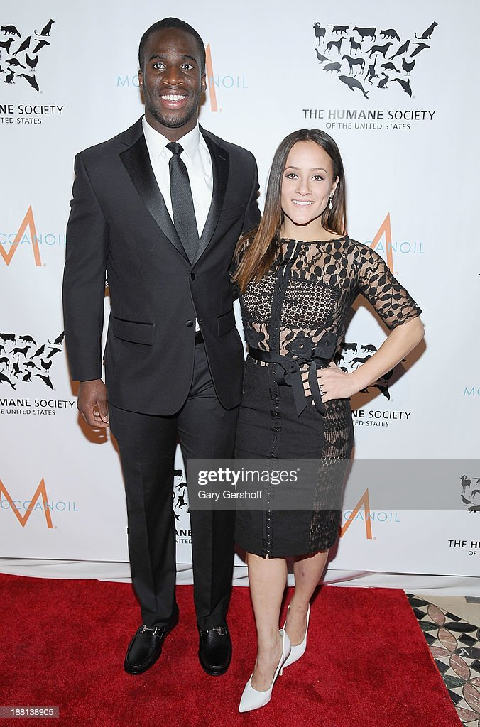New York Giants cornerback <a gi-track='captionPersonalityLinkClicked' href=/galleries/search?phrase=Prince+Amukamara&family=editorial&specificpeople=6357867 ng-click='$event.stopPropagation()'>Prince Amukamara</a> and fiance Pilar Davis attend