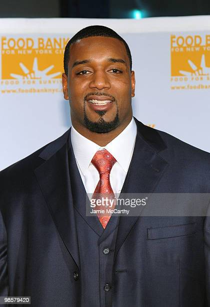 New York Giants defensive end Chris Canty attends the Food Bank for New York City's 8th Annual CanDo Awards dinner at Abigail Kirsch�s Pier Sixty at...