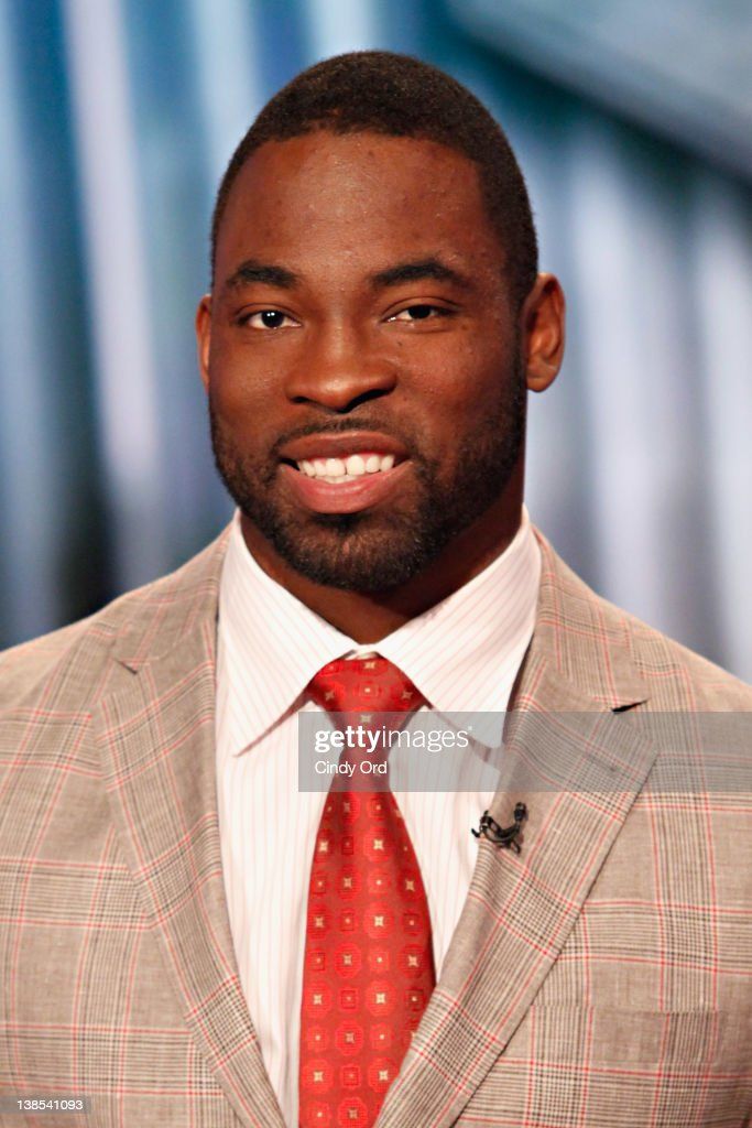 New York Giants Defensive End Justin Tuck visits FOX's 'Power and Money' at FOX Studios on February 8 2012 in New York City