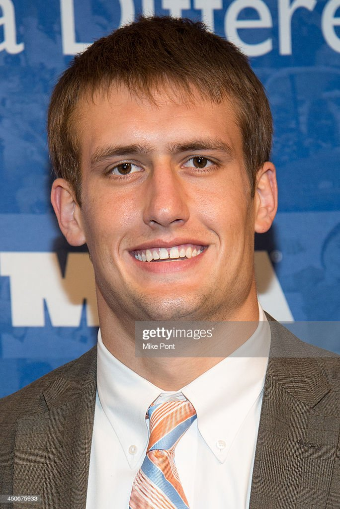 New York Giants football player <a gi-track='captionPersonalityLinkClicked' href=/galleries/search?phrase=Cooper+Taylor+-+American+Football+Player&family=editorial&specificpeople=15034498 ng-click='$event.stopPropagation()'>Cooper Taylor</a> attends MDA's 17th Annual Muscle Team Benefit and Gala at The Lighthouse at Chelsea Piers on November 19, 2013 in New York City.