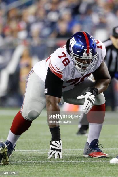 9077f472b ... New York Giants guard DJ Fluker during an NFL preseason game between  the New England Patriots ...