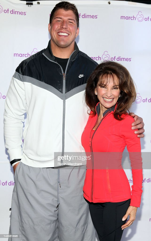 New York Giants offensive lineman David Diehl and Actress Susan Lucci attend the 2012 March of Dimes March for Babies on the Streets of Manhattan on April 29, 2012 in New York City.