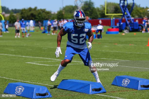New York Giants outside linebacker Jonathan Casillas during 2017 New York Giants Training Camp on July 30 at Quest Diagnostics Center in East...
