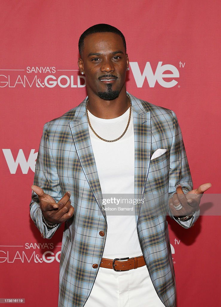 New York Giants player Aaron Ross attends the WE tv screening for 'Sanya's Glam & Gold' at The Gansevoort Park Ave on July 15, 2013 in New York City. Series premieres Thursday, July 25th at 10pm ET on WE tv.