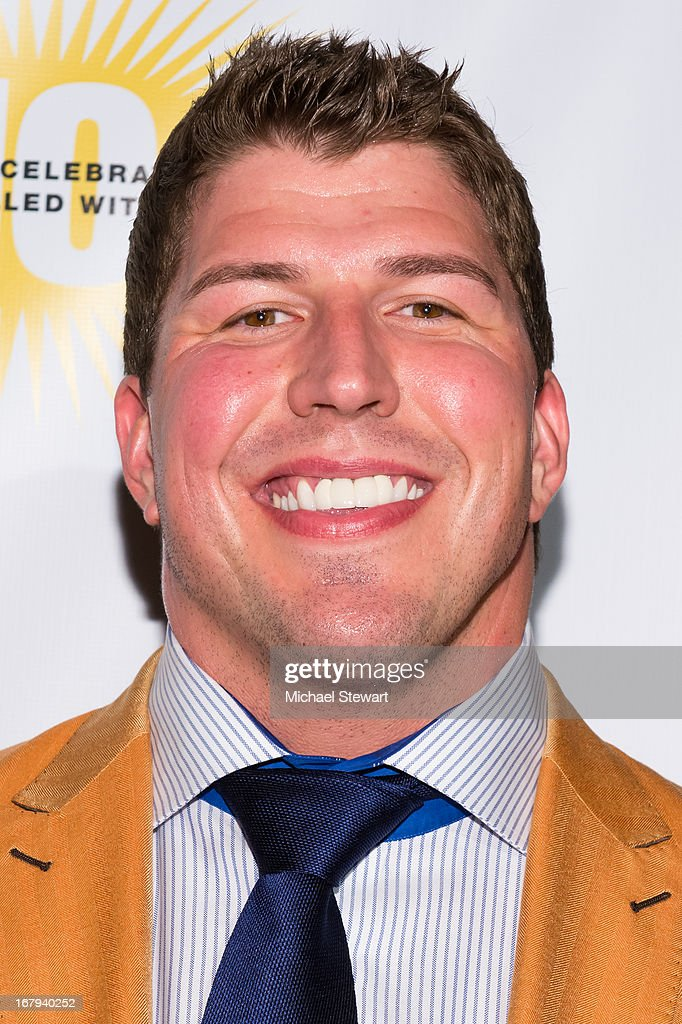 New York Giants player <a gi-track='captionPersonalityLinkClicked' href=/galleries/search?phrase=David+Diehl&family=editorial&specificpeople=240576 ng-click='$event.stopPropagation()'>David Diehl</a> attends the 10th Annual Project Sunshine Benefit at Cipriani 42nd Street on May 2, 2013 in New York City.
