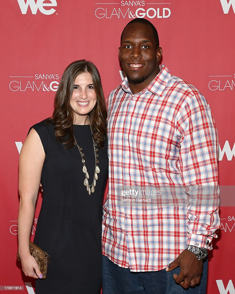 New York Giants player Kevin Boothe and wife Rosalie Boothe attend the WE tv screening for 'Sanya's Glam & Gold' at The Gansevoort Park Ave on July 15, 2013 in New York City. Series premieres Thursday, July 25th at 10pm ET on WE tv.