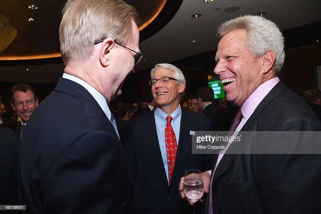 New York Giants President, CEO & co-owner John Mara, executive director of NRDC Peter Lehner, and New York Giants chairman Steve Tisch attend the 2013 Natural Resources Defense Council Game Changer Awards at the Mandarin Oriental Hotel on March 14, 2013 in New York City.