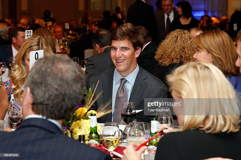 New York Giants quarterback Eli Manning attends the 2013 Legends For Charity Dinner Honoring Archie Manning at the Hyatt Regency New Orleans on January 31, 2013 in New Orleans, Louisiana.