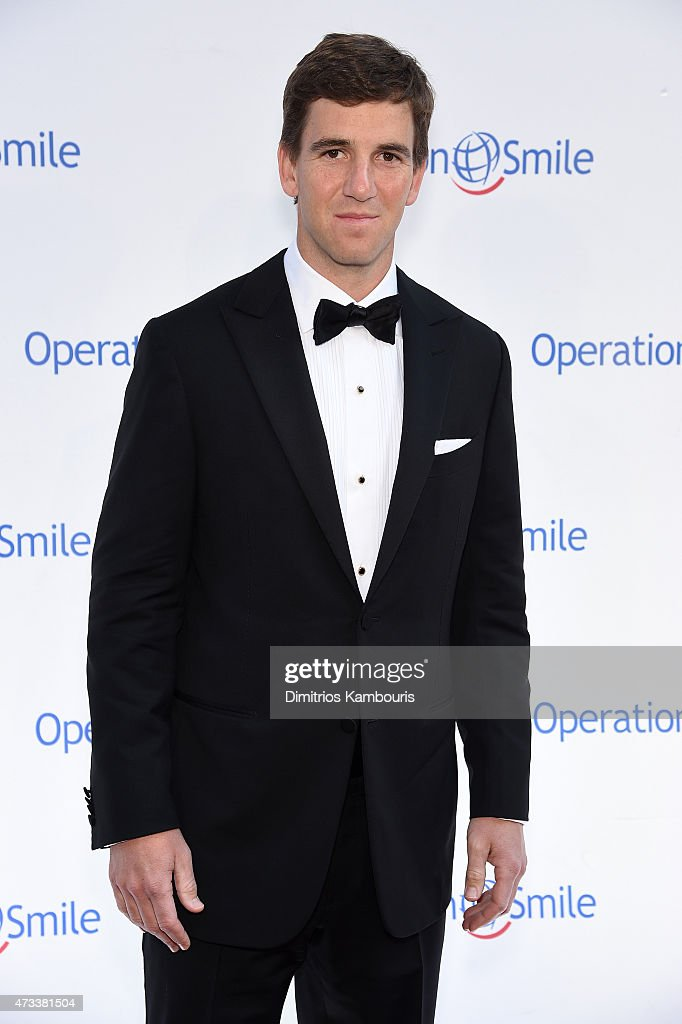 New York Giants quaterback Eli Manning appears at the 13th Annual Operation Smile Event Hosted By Kate Walsh With Special Guest Eli Manning Honoring...
