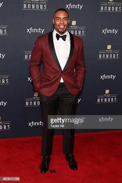 New York Giants running back Rashad Jennings attends the 2015 NFL Honors at Phoenix Convention Center on January 31 2015 in Phoenix Arizona