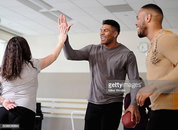 New York Giants running back Rashad Jennings Jacksonville Jaguars tight end Julius Thomas and multi platinum recording artist and actress Jordin...