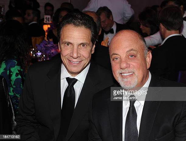 New York Governor Andrew Cuomo and Billy Joel attend the Elton John AIDS Foundation's 12th Annual An Enduring Vision Benefit at Cipriani Wall Street...