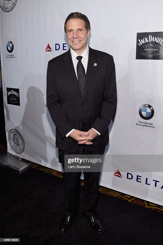 New York Governor <a gi-track='captionPersonalityLinkClicked' href=/galleries/search?phrase=Andrew+Cuomo&family=editorial&specificpeople=228332 ng-click='$event.stopPropagation()'>Andrew Cuomo</a> attends the Friars Foundation Gala honoring Robert De Niro and Carlos Slim at The Waldorf=Astoria on October 7, 2014 in New York City.