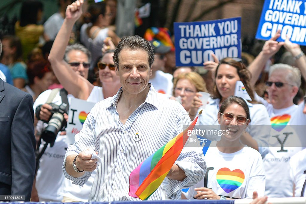 New York Governor Andrew Cuomo attends The March during NYC Pride 2013 on June 30, 2013 in New York City.