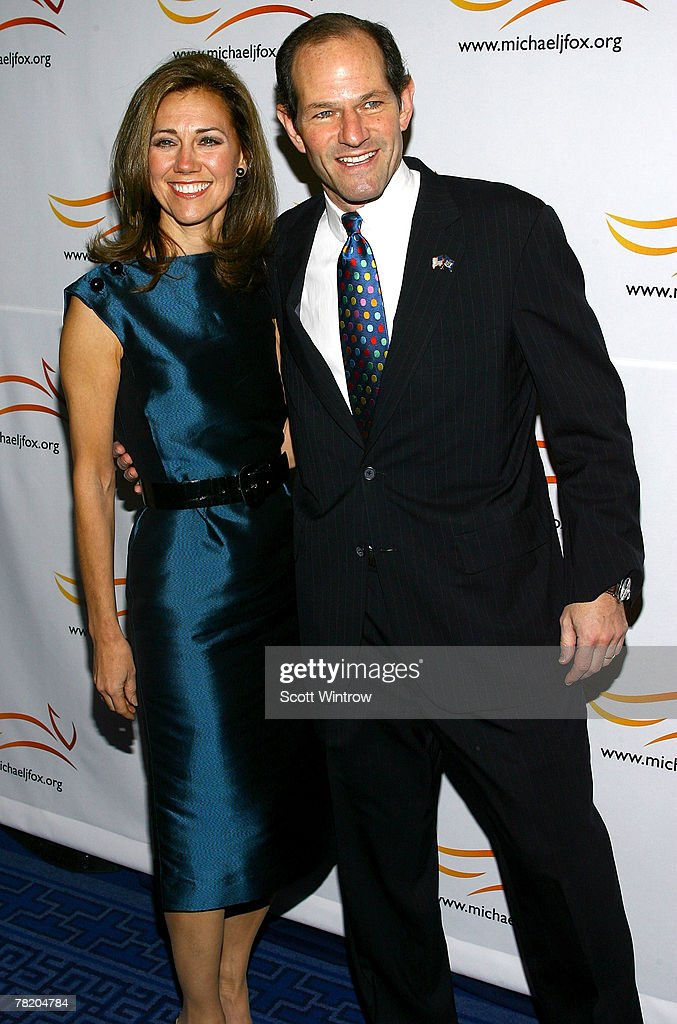 New York Governor Eliot Spitzer and Silda Wall Spitzer attend 'A Funny Thing Happened On The Way To Cure Parkinson's' benefit gala for the Michael J...