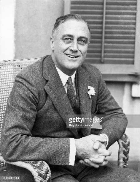 New York Governor Franklin D Roosevelt At Hyde Park In New York On July 1 1932