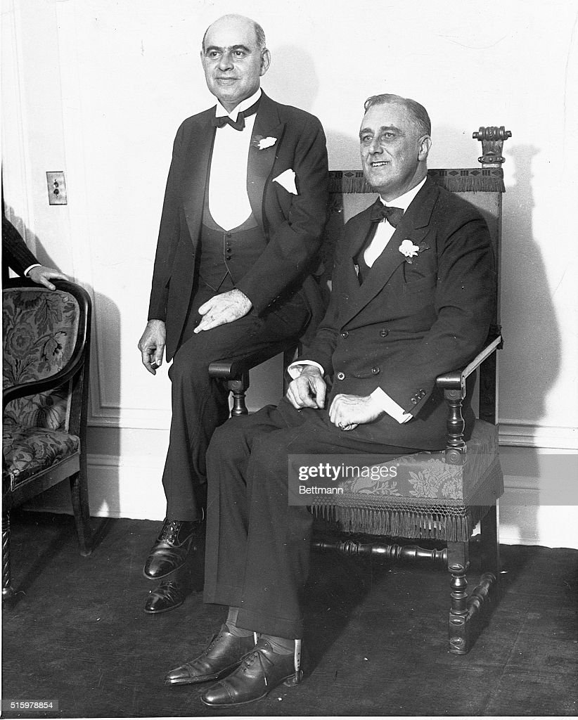 New York Governor Franklin Delano Roosevelt and Lieutenant Governor Herbert Lehman at the Democratic Party campaign headquarters.