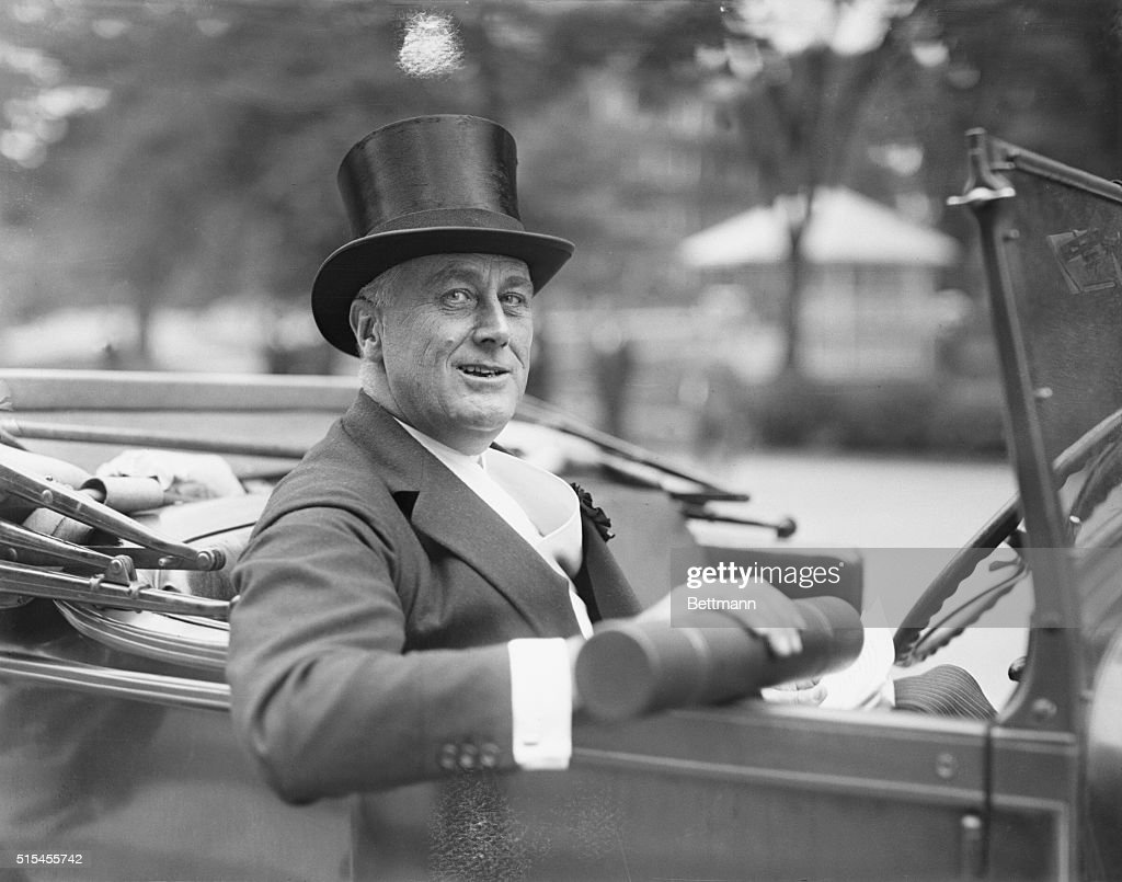 New York Governor gets honorary degree at Harvard...Franklin D. Roosevelt, Governor of the State of New York, shown after he had received an honorary degree of Doctor of Laws and the citation 'Governor of New York. a statesman in whom there is no guile' at commencement day exercises of Harvard University.