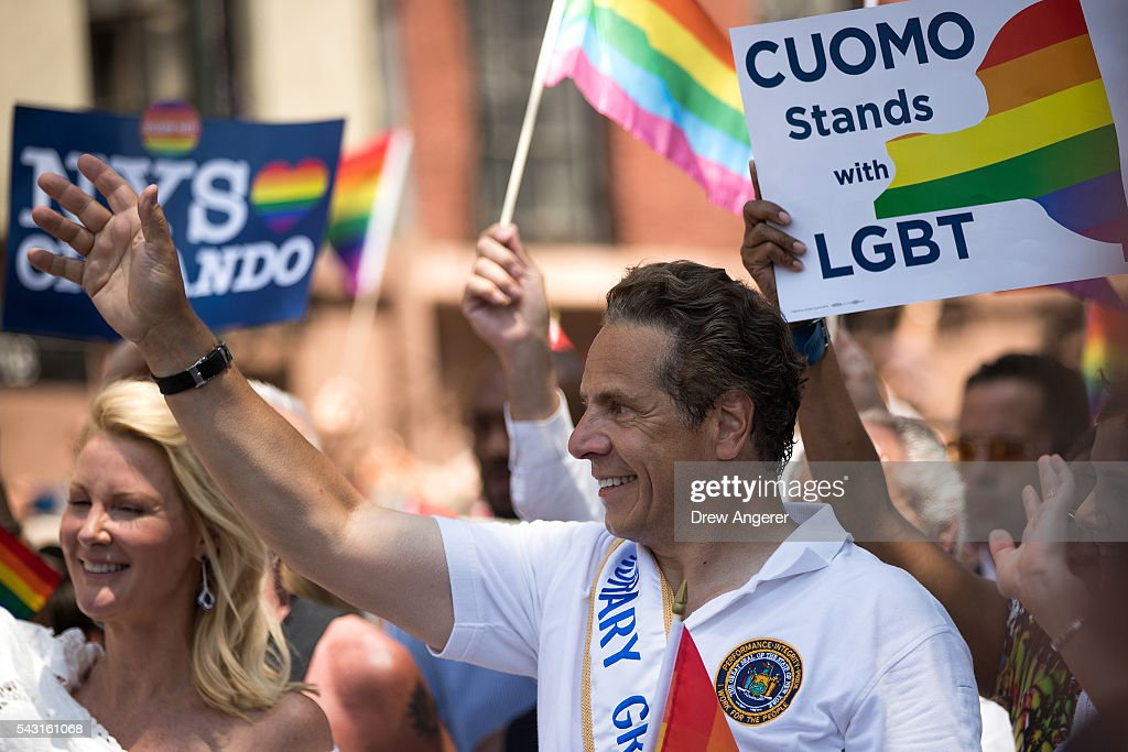 New York Governors <a gi-track='captionPersonalityLinkClicked' href=/galleries/search?phrase=Andrew+Cuomo&family=editorial&specificpeople=228332 ng-click='$event.stopPropagation()'>Andrew Cuomo</a> marches in the New York City Pride March, June 26, 2016 in New York City. This year was the 46th Pride march in New York City.