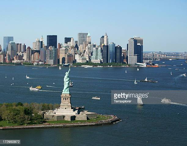 New York Harbor and Skyline
