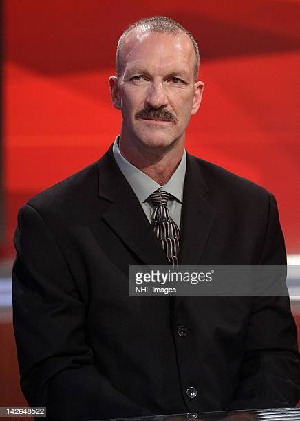 New York Islanders Director of Pro Scouting Ken Morrow at the NHL Draft Lottery on April 10 2012 at the TSN Studios in Toronto Ontario Canada