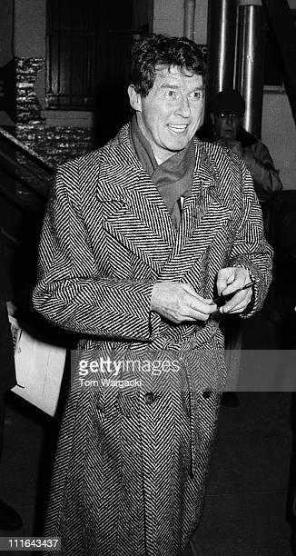 New York January 26 1988 Michael Crawford leaving stage door at the Majestic Theatre after his performance in 'The Phantom Of The Opera'