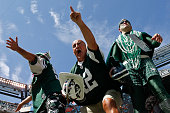 New York Jets fan Fireman Ed cheers during the game against the Cleveland Browns at MetLife Stadium on September 13 2015 in East Rutherford New Jersey