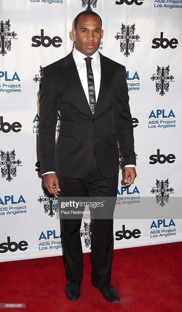 New York Jets Football Player Bret Lockett arrives at APLA and The Abbey's 12th Annual 'The Envelope Please' Oscar Viewing Party at The Abbey on February 20, 2013 in West Hollwwod, California.