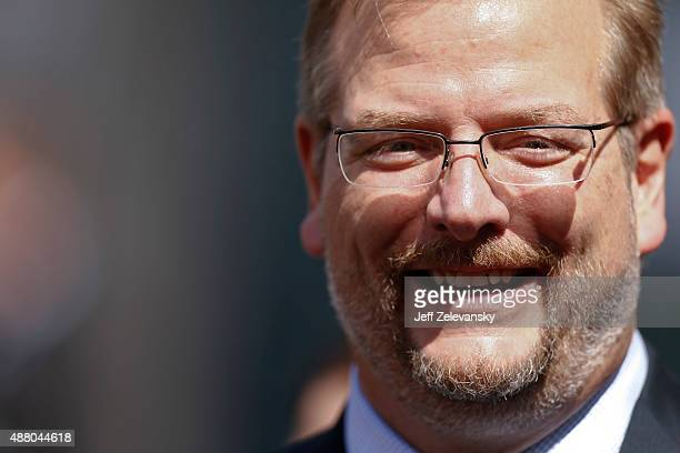 New York Jets general manager Mike Maccagnan stands on the sidelines before the game against the Cleveland Browns at MetLife Stadium on September 13...