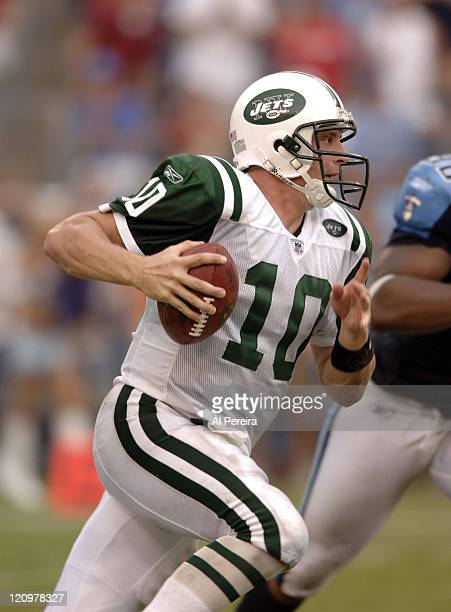 New York Jets QB Chad Pennington in action during the Jets' 2316 win over the Titans at LP Field Nashville Tennessee September 10 2006