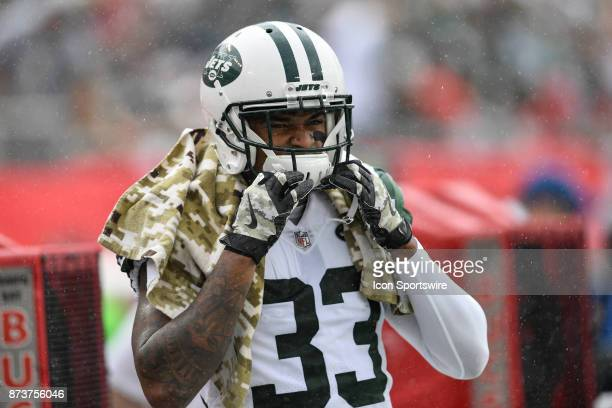 New York Jets safety Jamal Adams during the first half of an NFL game between the New York Jets and the Tampa Bay Buccaneers on November 12 at...