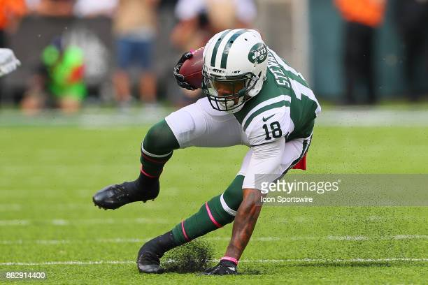New York Jets wide receiver ArDarius Stewart makes a catch during the first quarter of the National Football League game between the New York Jets...