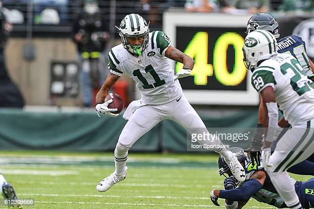 New York Jets wide receiver Robby Anderson during the game between the New York Jets and the Seattle Seahawks played at MetLife Stadium in East...