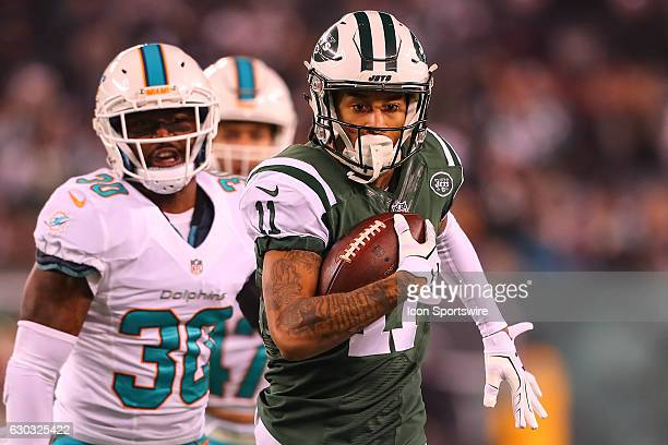 New York Jets wide receiver Robby Anderson during the National Football League game between the New York Jets and the Miami Dolphins on December 17...
