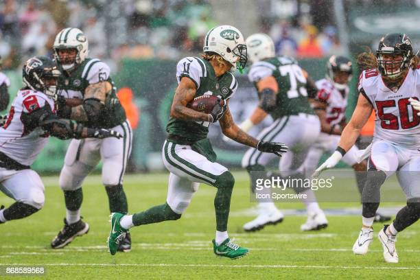 New York Jets wide receiver Robby Anderson during the National Football League game between the New York Jets and the Atlanta Falcons on October 29...