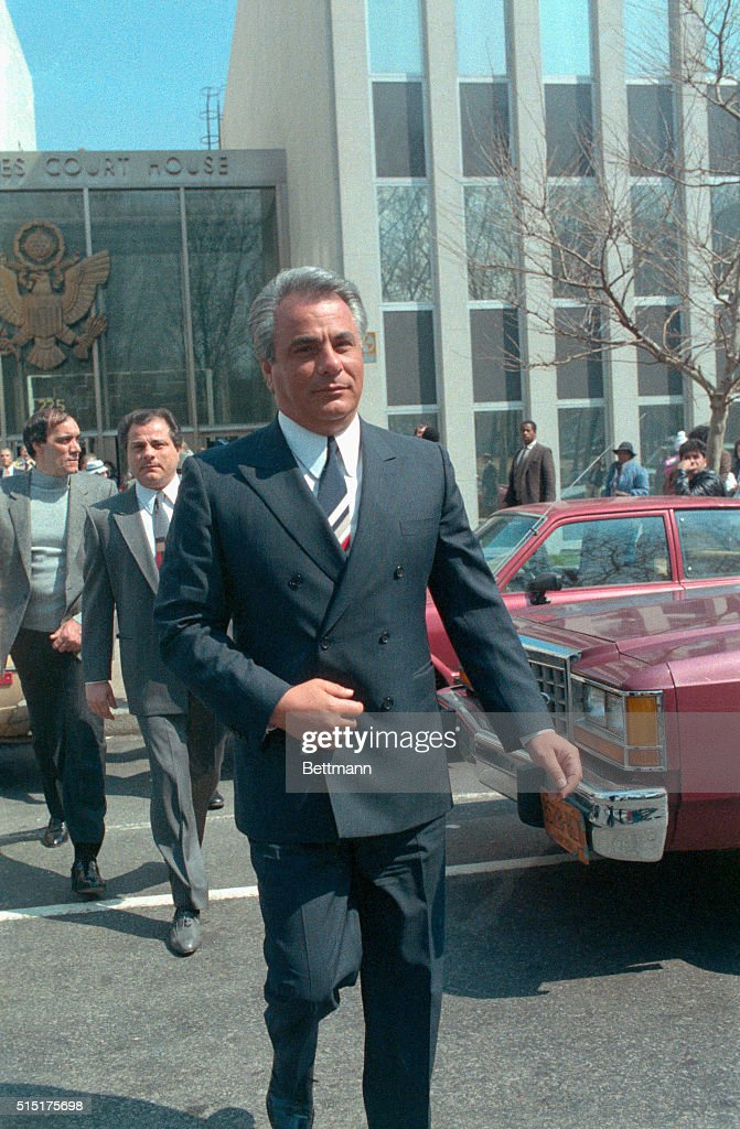 <a gi-track='captionPersonalityLinkClicked' href=/galleries/search?phrase=John+Gotti&family=editorial&specificpeople=240250 ng-click='$event.stopPropagation()'>John Gotti</a>, reputed godfather of the Gambino crime family after 'Big Paul' Castellano's murder, is pictured at Brooklyn Federal Court where he went on trail for racketeering.