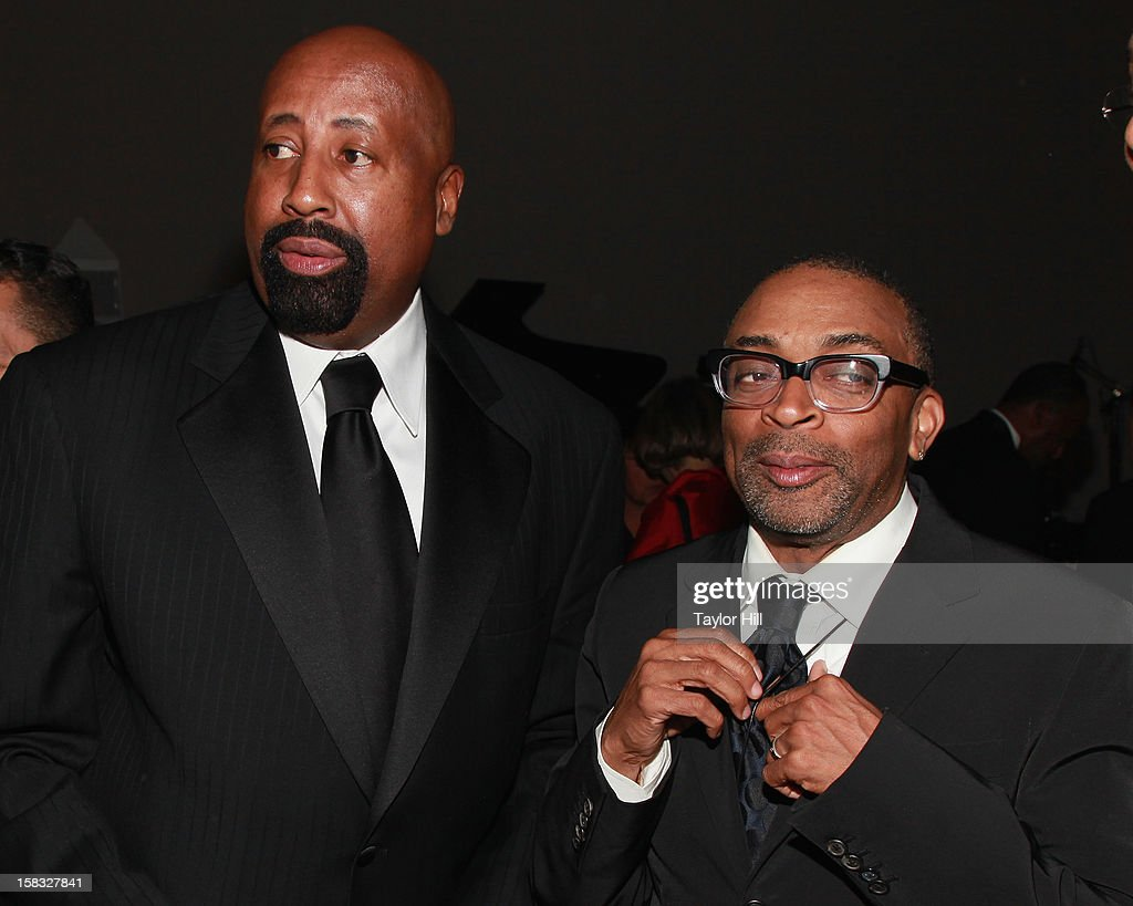 New York Knicks coach Mike Woodson and director Spike Lee attend The Museum of Modern Art's Jazz Interlude Gala After Party at MOMA on December 12, 2012 in New York City.