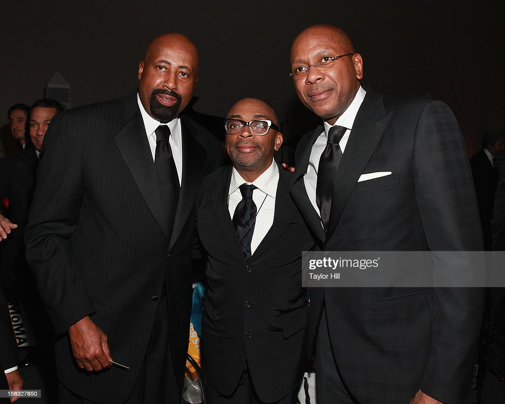 New York Knicks coach Mike Woodson, director Spike Lee and New York Knicks assistant coach Darrell Walker attend The Museum of Modern Art's Jazz Interlude Gala after party at Museum of Modern Art on December 12, 2012 in New York City.